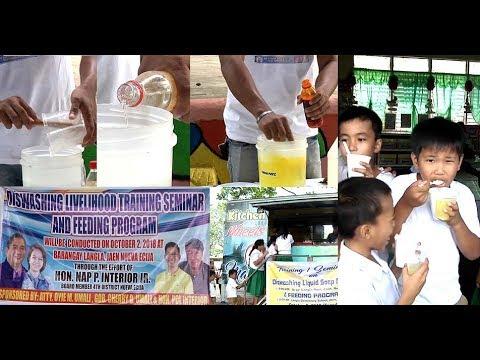 Paggawa ng dishwashing liquid at fabric conditioner, itinuro sa mga residente ng Jaen