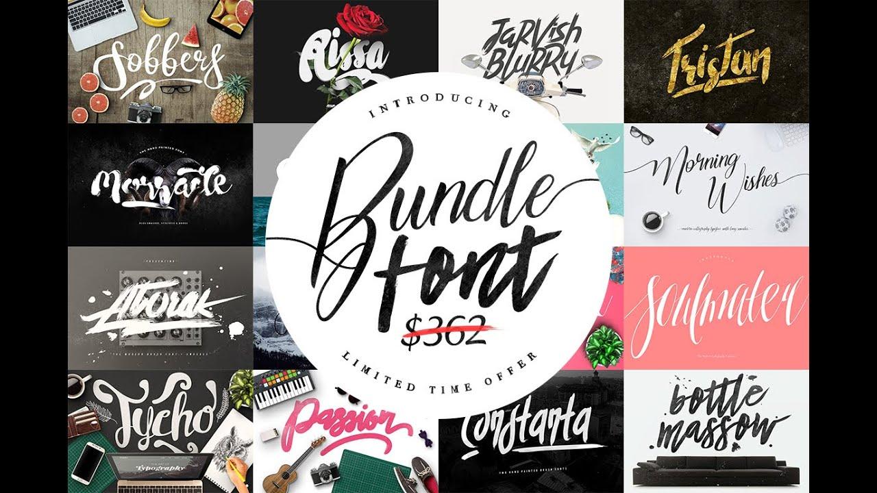 Font Bundles Graphic Bundle - MaulanaCreative Font Bundle & Graphic - 95%  OFF