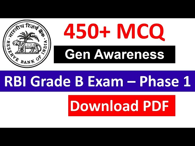 450+ Current Affairs MCQ | Download PDF for RBI Grade B Exam