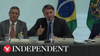 Bolsonaro's Foul-mouthed Rant To Cabinet Over Security Forces