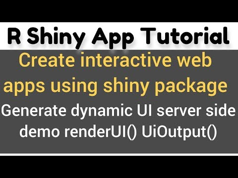 R Shiny app tutorial # 13 a - how to use renderUI() and uiOutput() in shiny - Dynamic input widgets