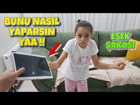 Melikenin Tabletini Kırdım Ipad Breaking Prank - Funny Oyuncax