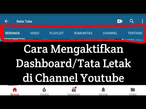 Cara Mengaktifkan Dashboard/Tata Letak di Channel Youtube