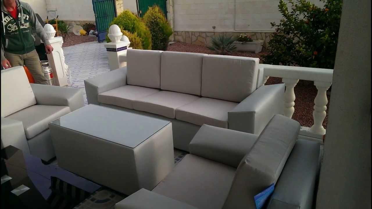 montaje sof s de terraza tela n utica mod 3 muebles emilio