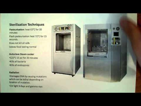 Microbiology sterilization techniques, disinfection and antisepsis