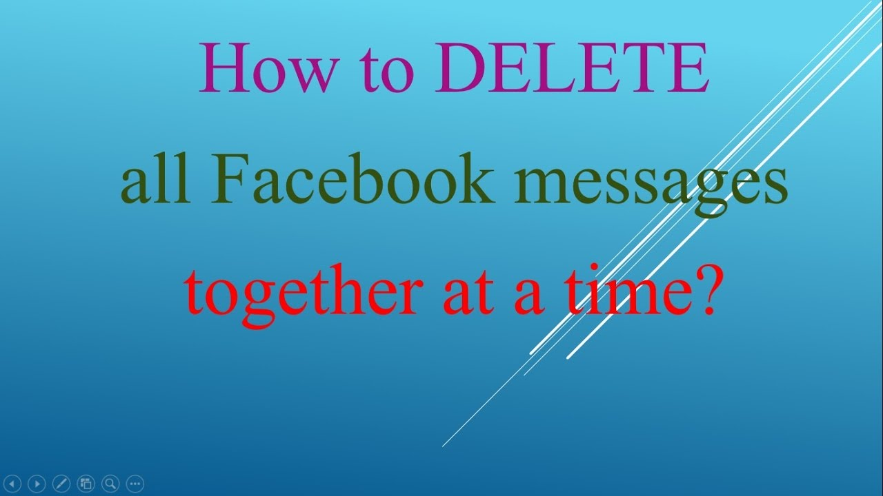 how to delete all my messages on facebook