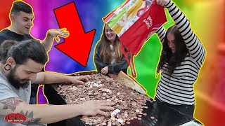 TWINS PAY FOR PIERCINGS WITH 10,000 PENNIES!!