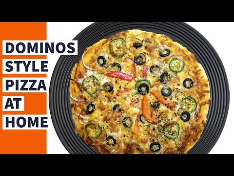 DOMINOS STYLE HOMEMADE PIZZA |Homemade veg Pizza|How to make PIZZA from SCRATCH|Pizza Dough Recipe