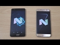 OnePlus 3T vs Samsung Galaxy S7 Edge Official Android 7.0 Nougat - Speed Test!