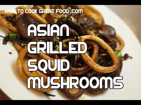 Asian pan fried squid mushroom recipe video youtube asian pan fried squid mushroom recipe video forumfinder Gallery