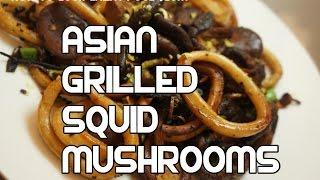 Asian Pan Fried Squid & Mushroom Recipe