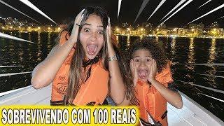 SOBREVIVENDO O DIA INTEIRO COM 100 REAIS!