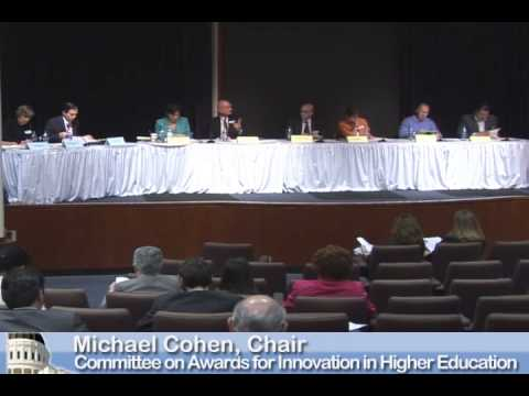 Committee on Awards for Innovation in Higher Education 03202015