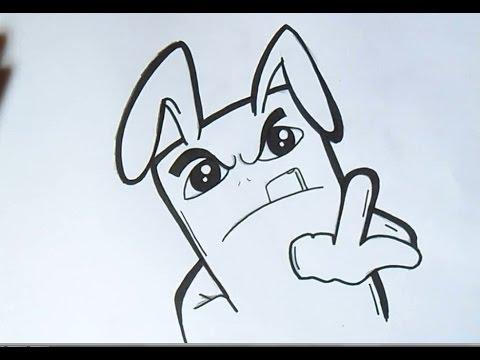 cómo dibujar un conejo Graffiti