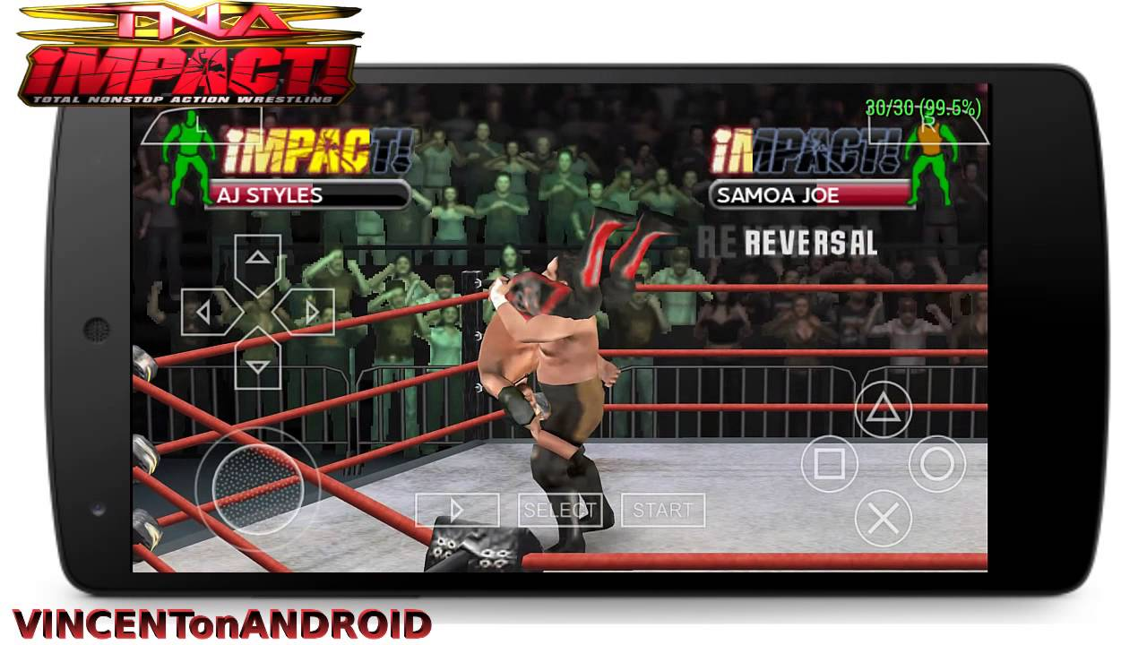 Ppsspp 0 9 9 Tna Impact Cross The Line Android Gameplay Youtube