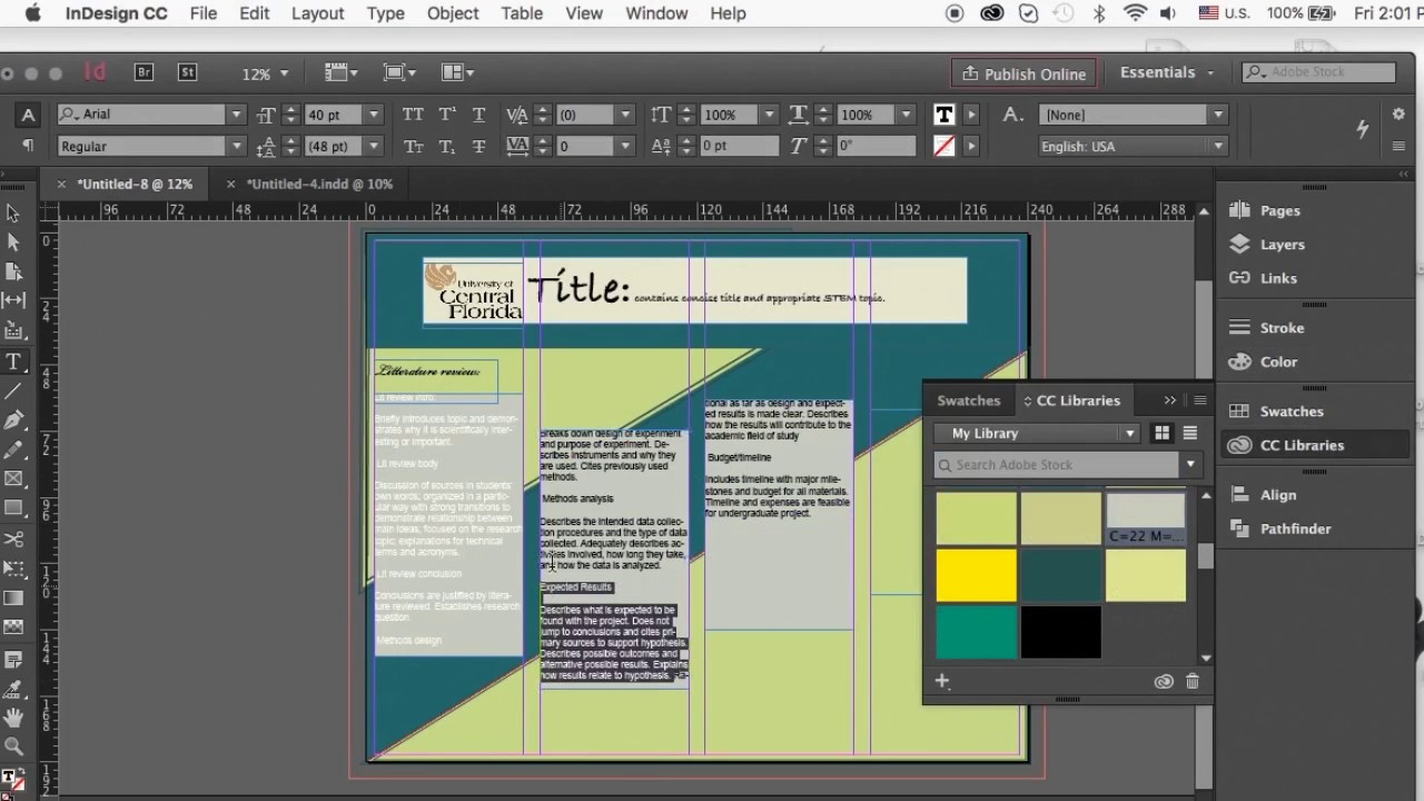 Poster design academic - How To Create An Academic Poster In Indesign