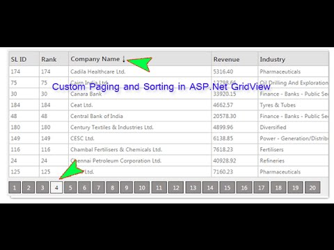 How to implement Custom Paging and Sorting in ASP Net GridView