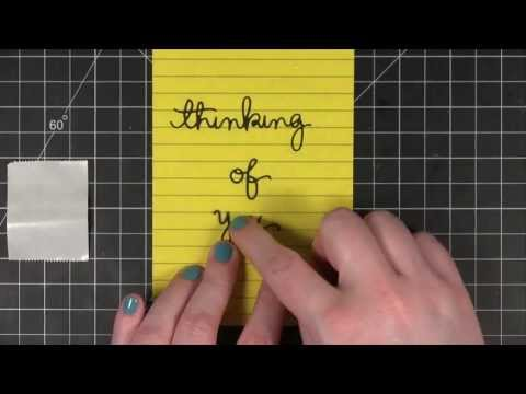 Quick Tip - Adhere thin & delicate die cuts