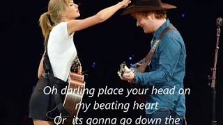 Taylor Swift VS Ed Sheeran MASHUP ft. Alyson Stoner & Sam Tsui (Lyrics) by kurt hugo schneider