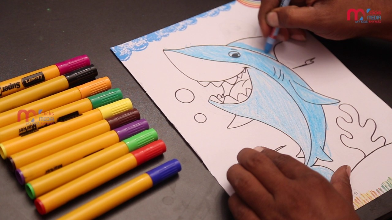 Coloring Pages For Kids How To Color Dolphin Fish Best Learning Children My Rhymes