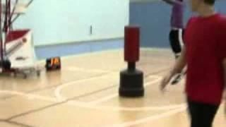 Basketball Team workout on Shooting Machine