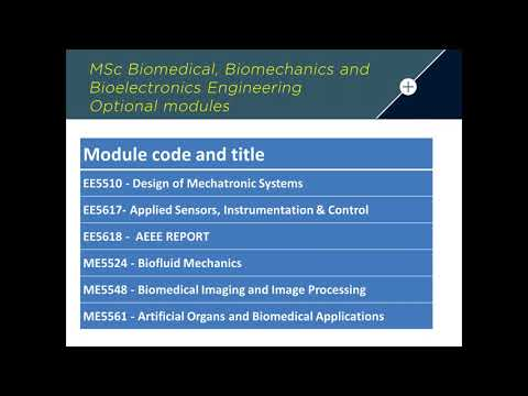 MSc courses in Biomedical Engineering - Webinar 20 June 2017