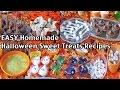 Easy Homemade Halloween Party Food Recipes And Ideas - Sweet Treats!