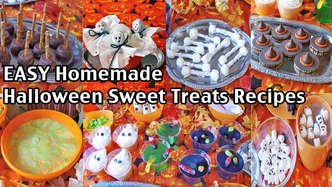 easy homemade halloween party food recipes and ideas sweet treats youtube
