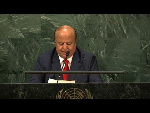 Yemen's president at UN hits out at Iran