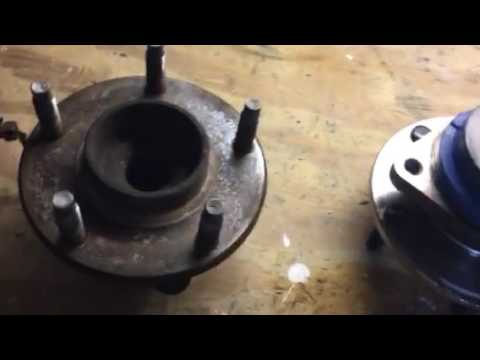 Bad wheel bearing vs new wheel bearing comparison