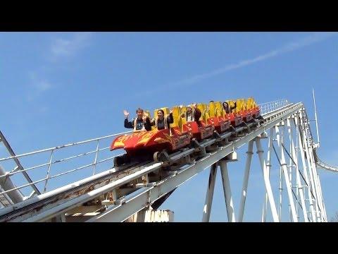Crazy BACKWARDS Togo Looping Death Machine Roller Coaster POV Washuzan Highland Japan