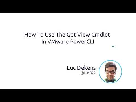 How To Use The Get-View Cmdlet In VMware PowerCLI - YouTube