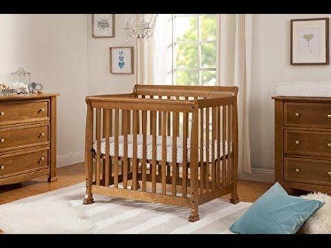 DaVinci Kalani 2-in-1 Mini Crib And Twin Bed, Chestnut