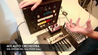MTI AUTO ORCHESTRA Analog synth w/ Synthrotek NEW delay Pedal - feedback