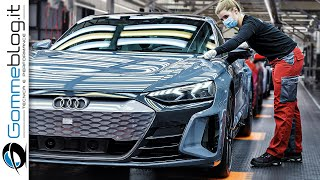 2021 Audi e-tron GT PRODUCTION ( e tron German Car Factory )