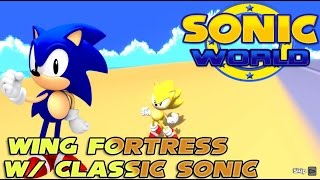 Sonic World R7 Wing Fortress W/ Classic Sonic HD