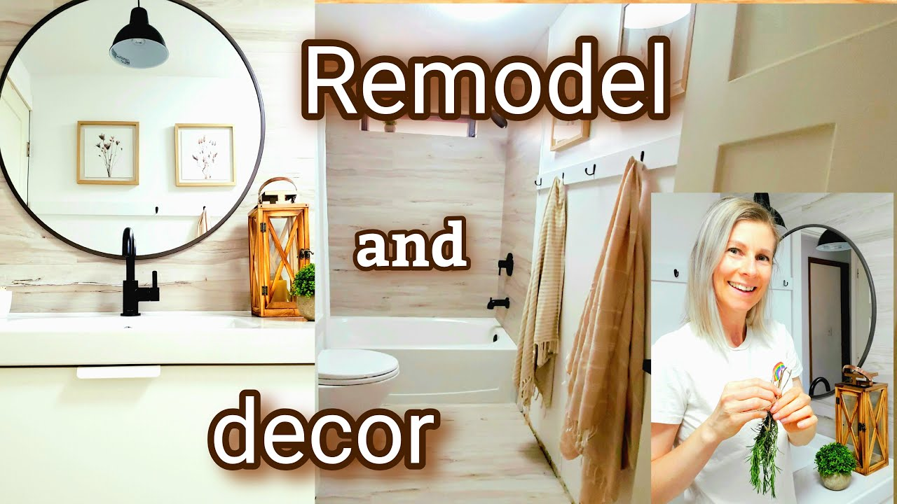 BATHROOM REVEAL- HOUSE REMODEL AND DECORATING - BATHROOM REMODEL AND DECOR DIY BATHROOM