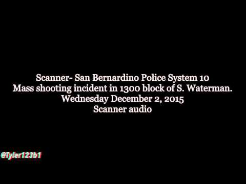 RAW AUDIO: Police Scanner audio from San Bernardino, California shoot out (FULL)