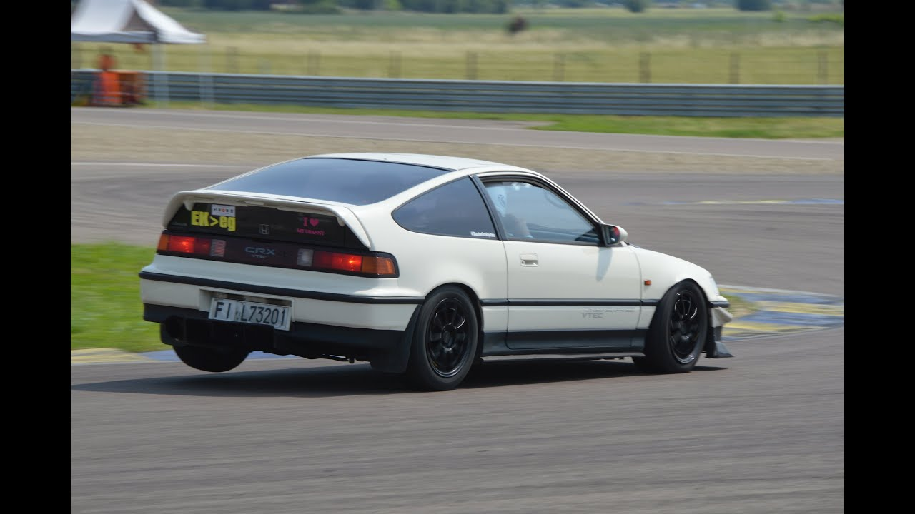 Honda Cr X >> Fast Honda Crx Vtec On Track Jcm 2k15 Youtube