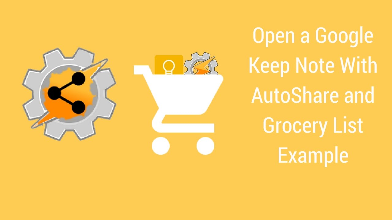 Open Google Keep Grocery List At Grocery Store  Example Grocery List