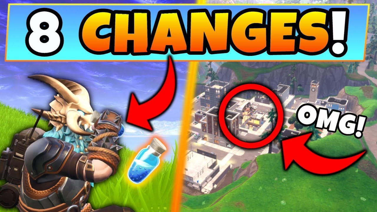 Fortnite Update 8 Secret Changes In The Port A Fortress Patch