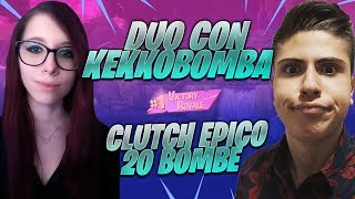 KEKKOBOMBA FIDATI DI ME! CLUTCH + 20 BOMBE DA SOLA !! *epico* | FORTNITE ITA