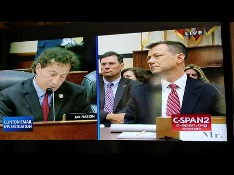 Democratic Representative Jamie Raskin of Maryland on Capitol Hill Strzok Questioning  July 12, 2018