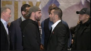 INTENSE! BILLY JOE SAUNDERS v DAVID LEMIEUX - OFFICIAL HEAD TO HEAD FROM CANADA / SAUNDERS v LEMIEUX