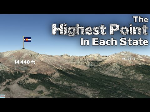 What Is The Highest Point In Each State Of The USA?
