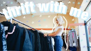 COME THRIFT WITH ME | a realistic thrift trip + big thrift store try on haul