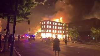 Live: riots in Minneapolis NIGHT 2 the city is on fire