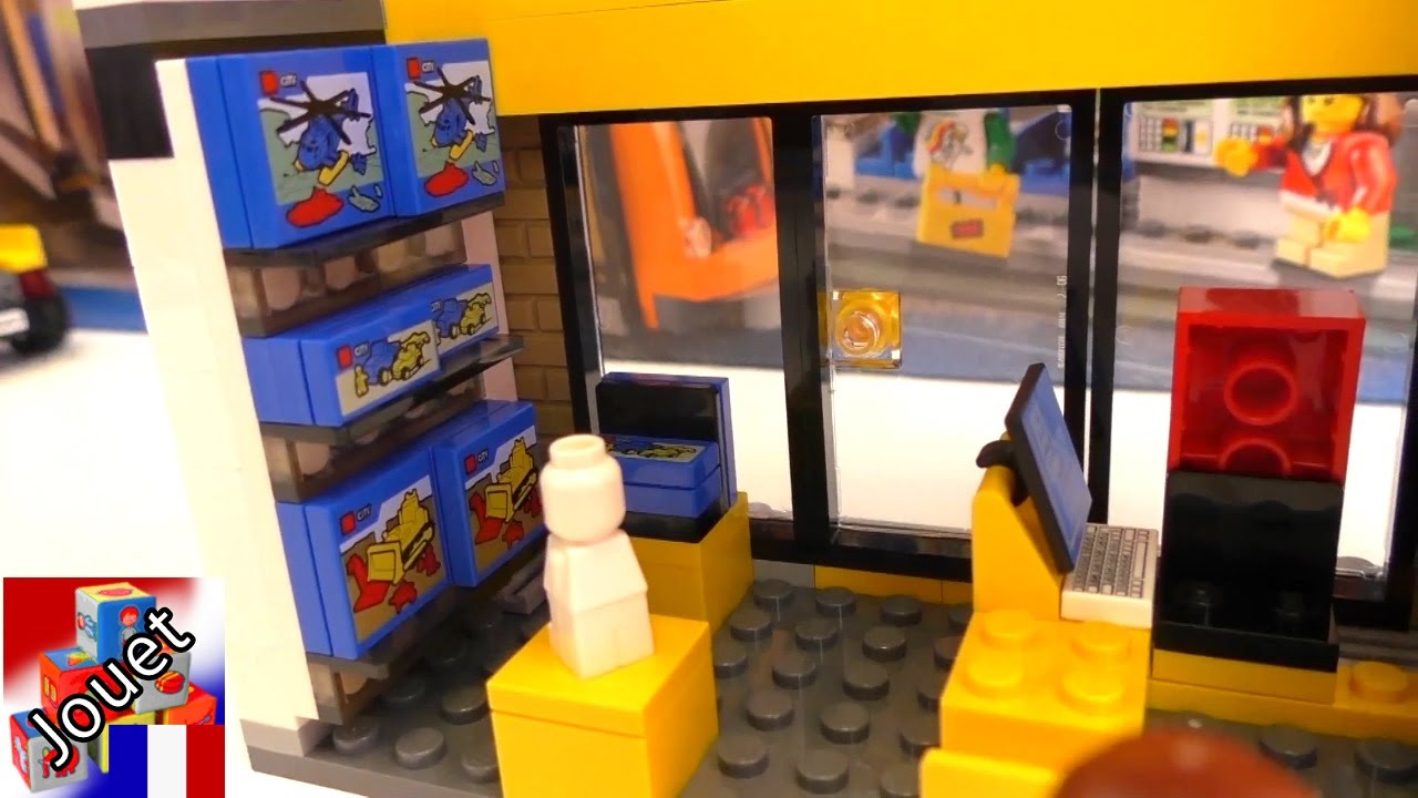 Magasin lego faire du shopping lego city centre ville - Comment faire une ville lego city ...