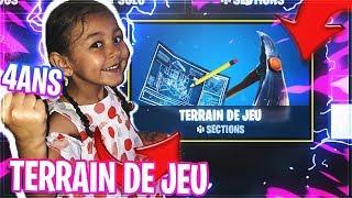 """MA PETITE SOEUR DE 4 ANS TESTE LE NOUVEAU MODE """"TERRAIN DE JEUX"""" sur FORTNITE BATTLE ROYALE"""