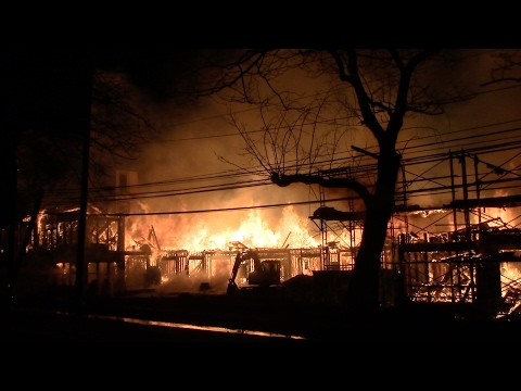 Maplewood Fire Department 6th Alarm Fully Involved Apartment Fire Avalon Complex 2-4-17